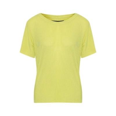 ENZA COSTA Tシャツ ファッション  レディースファッション  トップス  Tシャツ、カットソー  半袖 イエロー