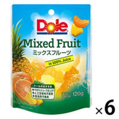ドールドール フルーツパウチ ミックスフルーツ 120g 6個