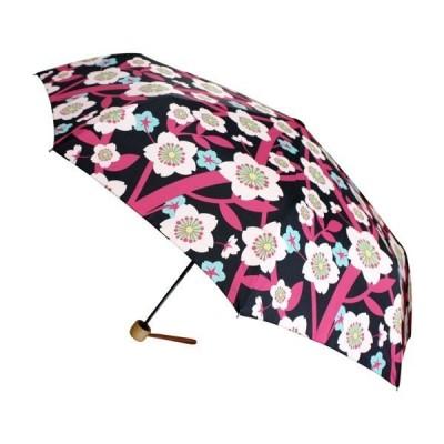 和柄テキスタイル三つ折りたたみ傘-宵桜