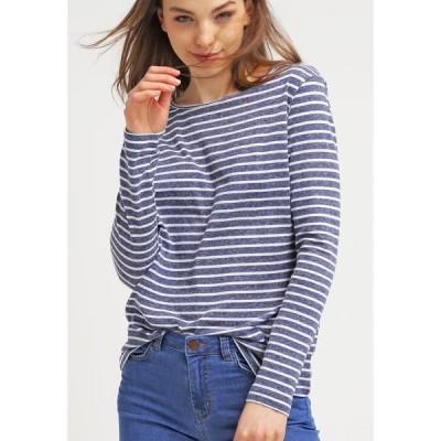 サムスサムス カットソー レディース トップス NOBEL STRIPE - Long sleeved top - white/blue