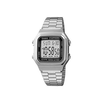 腕時計 カシオ メンズ A178WA-1A Casio Men's A178WA-1A Silver Stainless-Steel Quartz Watch with Grey Di