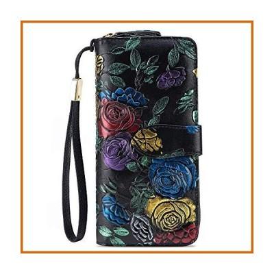 送料無料 HOLYBIRD RFIDブロック 本革財布 女性用 大容量 携帯電話財布 ハンドバッグ 長い カードホルダー