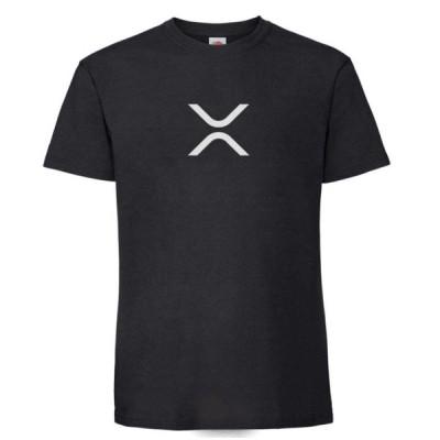XRP リップルロゴTシャツ Ripple ビットコイン 仮想通貨 暗号通貨 ブロックチェーン bitcoin クールでかっこいいロゴマーク ブラック