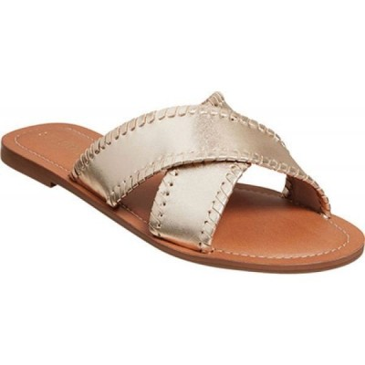 ジャックロジャース Jack Rogers レディース サンダル・ミュール シューズ・靴 Sloane X Band Slide Gold Metallic Leather