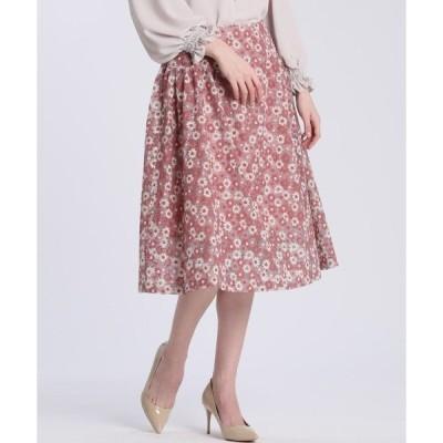 スカート 《Maglie White》エンブロイダリーレーススカート