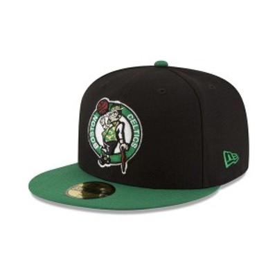 ニューエラ メンズ 帽子 アクセサリー Boston Celtics Basic 2 Tone 59FIFTY Fitted Cap Black/Kelly Green