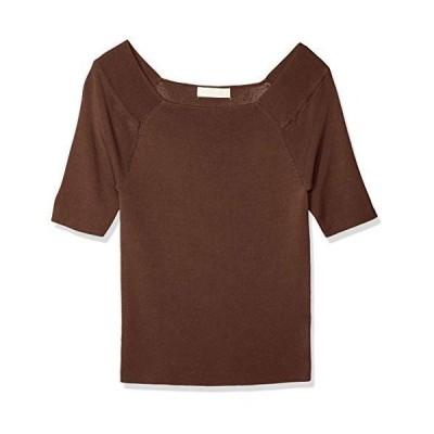 フリーズマート セーター 総針スクエアネック半袖ニット レディース ブラウン 日本 FR (FREE サイズ)