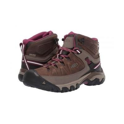 Keen キーン レディース 女性用 シューズ 靴 ブーツ ハイキング トレッキング Targhee III Mid Waterproof - Weiss/Boysenberry