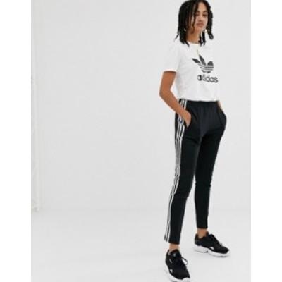 アディダス レディース カジュアルパンツ ボトムス adidas Originals adicolor three stripe cigarette pant in black Black