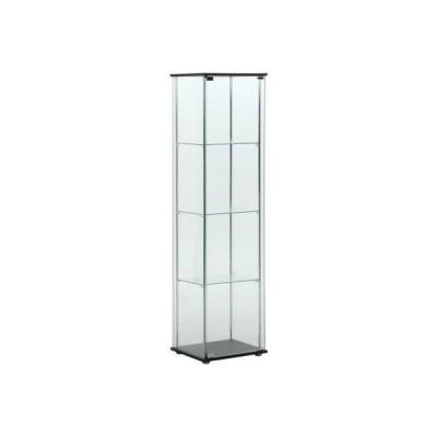 不二貿易 96047 ガラスコレクションケース 4段