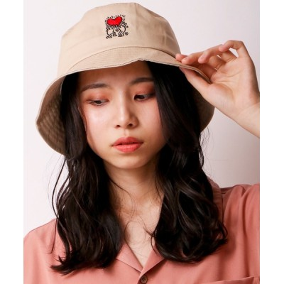 FUNALIVE / 【Keith Haring】キースヘリング ハートバケットハット WOMEN 帽子 > ハット