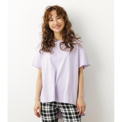 【ロデオクラウンズ/RODEO CROWNS】 バックフレアドッキングTシャツ