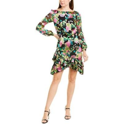サローニ ワンピース トップス レディース Saloni Felicia Silk-Blend Mini Dress hydrangea