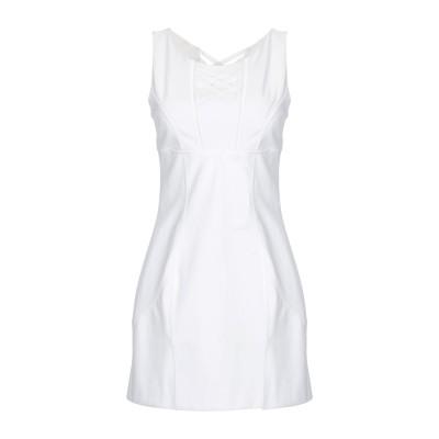 ERMANNO DI ERMANNO SCERVINO ミニワンピース&ドレス ホワイト 42 コットン 95% / ポリウレタン 5% ミニワンピ