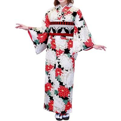 (キョウエツ) KYOETSU ククー メモワール レディース洗える袷着物 仕立て上がり (L, A-8)
