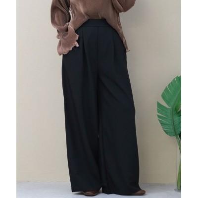 ANDJ / ハイウエストタックスラックスパンツ WOMEN パンツ > スラックス