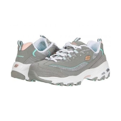 SKECHERS スケッチャーズ レディース 女性用 シューズ 靴 スニーカー 運動靴 D'Lites - Sparkling Rain - Grey Mint