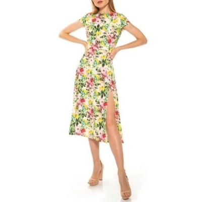 アレクシアアドマー レディース ワンピース トップス Lily Crew Neck Midi Dress BLUSH LEMONS