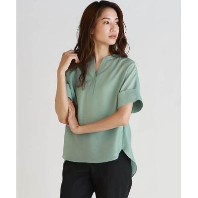 LAUTREAMONT ONLINE SHOP / 《洗濯機で洗える》キーホールネックのゆったりシャツブラウス WOMEN トップス > シャツ/ブラウス