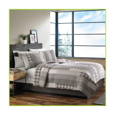 Eddie Bauer Home | Fairview Collection | 100% Cotton Reversible & Light-Weight Quilt Bedspread With Matching Sham, 2-Piece Bedding Set, Pre-