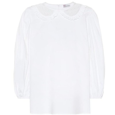 レッド ヴァレンティノ REDValentino レディース トップス Stretch-cotton top Bianco Ottico