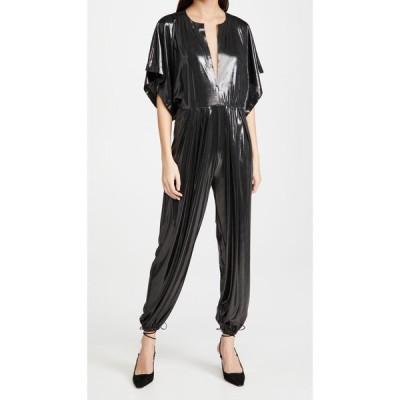 ノーマ カマリ Norma Kamali レディース オールインワン ジャンプスーツ ワンピース・ドレス Rectangle Jog Jumpsuit Dark Silver