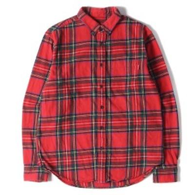 Supreme シュプリーム シャツ タータンチェック BD フランネルシャツ Tartan Flannel Shirt 17AW レッド×グリーン S 【メンズ】【中古】