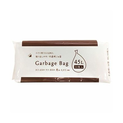 ジャパックス ゴミ袋 半透明 45L 横65×縦80cm 厚み0.015mm Garbage Bag 32折 取り出しやすい ポリ袋 CS-53 50枚入