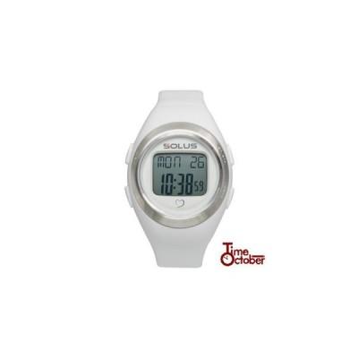 ポイント最大15倍 スポーツ ランニング 腕時計 メンズ レディース ソーラス SOLUS 01-800-202 ホワイト×無地