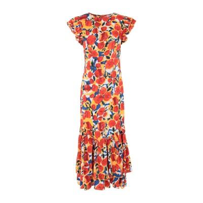 NEVER FULLY DRESSED 7分丈ワンピース・ドレス オレンジ 6 ポリエステル 100% 7分丈ワンピース・ドレス