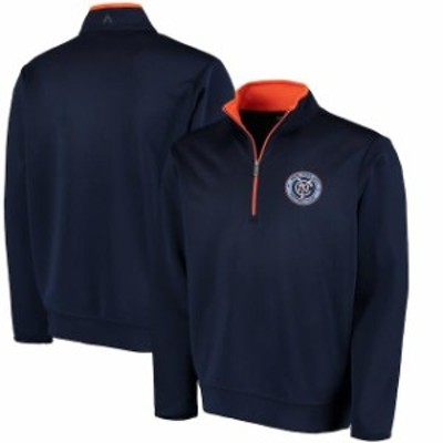 Antigua アンティグア スポーツ用品  Antigua New York City FC Navy Leader Quarter-Zip Pullover Jacket
