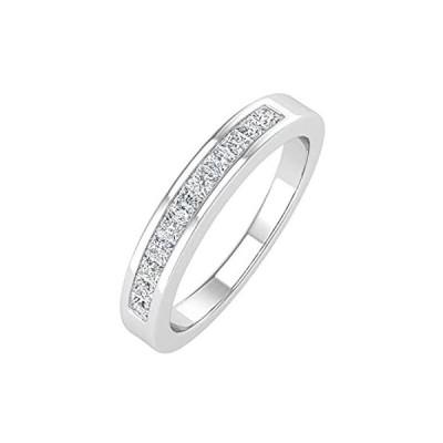 0.27カラット チャネルセット ダイヤモンド 結婚指輪 10K ソリッドゴールド