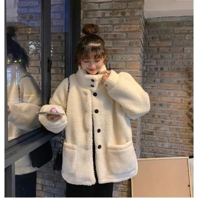 冬 コート レディース アウター 人気 ダウンジャケット 裏起毛 防風 ファーコート カシミヤ ウール トップス シャツ 日常 きれいめ カジュアル 可愛い 秋 秋服 韓国 ファッション