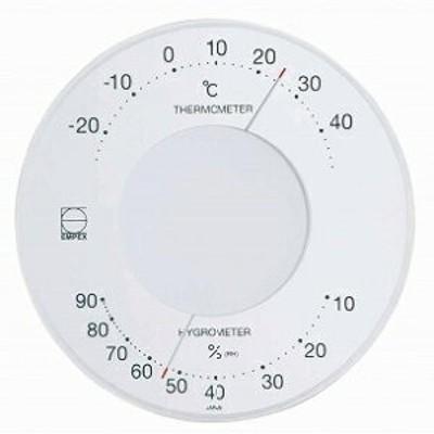 EMPEX[エンペックス] セレナ温・湿度計 ホワイト LV-4303