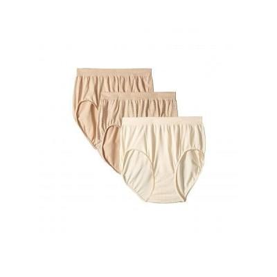 Bali レディース 女性用 ファッション 下着 ショーツ Comfort Revolution Seamless Briefs 3-Pair - White/White/White