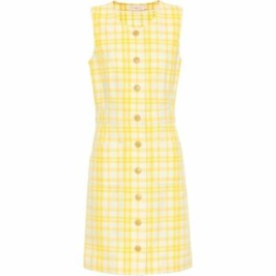 トリー バーチ Tory Burch レディース ワンピース ワンピース・ドレス Checked cotton-blend dress Check in Plaid Jacquard