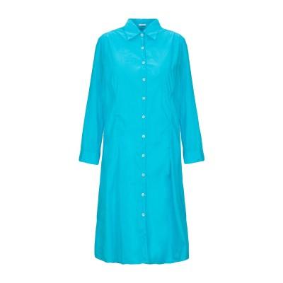 ROBERT FRIEDMAN ミニワンピース&ドレス アジュールブルー S コットン 100% ミニワンピース&ドレス