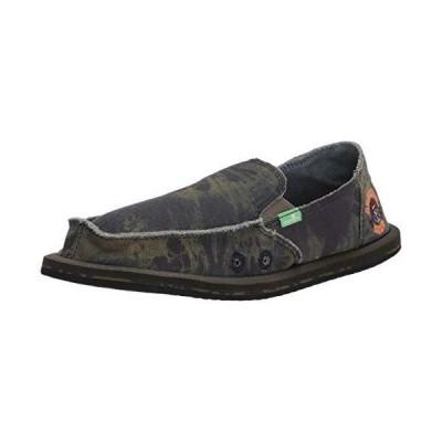 Sanuk unisex child Vagabond Boys Grateful Dead Loafer, Green/Navy, 6 US