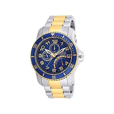 Invicta Men's 17356 Pro Diver Chronograph Watch Two-Tone Steel Blue Dial an