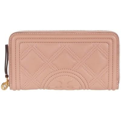 トリーバーチ Fleming Soft Zip Continental Wallet レディース 財布 Pink Moon