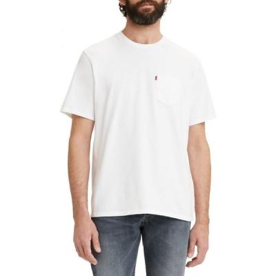 リーバイス LEVI'S メンズ Tシャツ ポケット トップス Relaxed Fit Pocket T-Shirt White