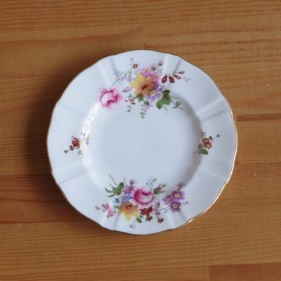 イギリス アンティーク 食器 ロイヤルクラウンダービー ポウジーズ デザートプレート ケーキ皿 花柄 16cm #200401-2