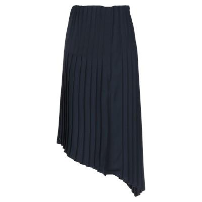 マニラ グレース MANILA GRACE 7分丈スカート ダークブルー 38 100% ポリエステル 7分丈スカート