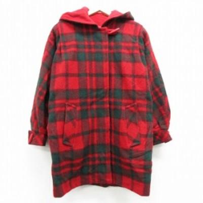 古着 レディース 長袖 ウール ジャケット コート パーカー 90年代 90s マッキントッシュ ロング丈 大きいサイズ ドルマンスリーブ USA製