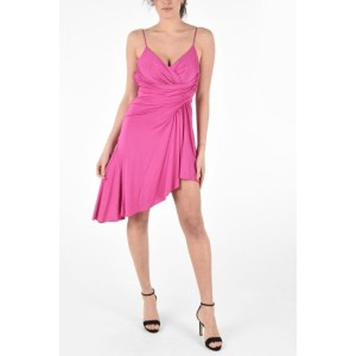 ALEXANDRE VAUTHIER/アレクサンドル ボーティエ Pink レディース Asymmetrical Draped Mini Dress with Inner Bodysuit dk