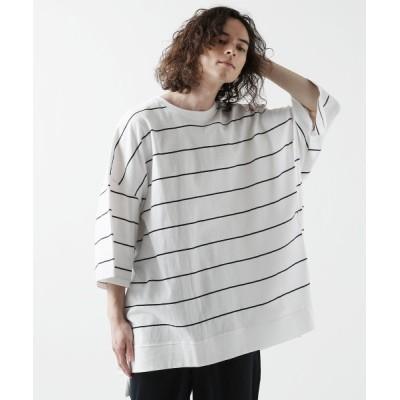 tシャツ Tシャツ スーパービッグシルエット半袖ボーダーカットソー