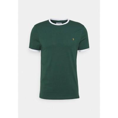 ファーラー Tシャツ メンズ トップス GROVES RINGER TEE - Basic T-shirt - cedar green