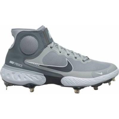 ナイキ メンズ スニーカー シューズ Nike Men's Alpha Huarache Elite 3 Mid Metal Baseball Cleats Grey/White
