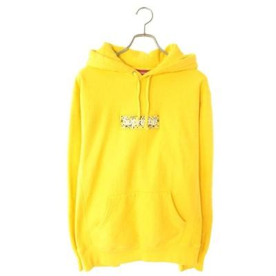 シュプリーム SUPREME 19AW Bandana Box Logo Hooded Sweatshirt サイズ:L バンダナボックスロゴプルオーバーパーカー 中古 SJ02