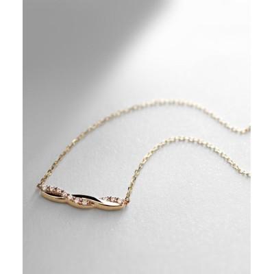 COCOSHNIK(ココシュニック) ダイヤモンド ツイストネックレス